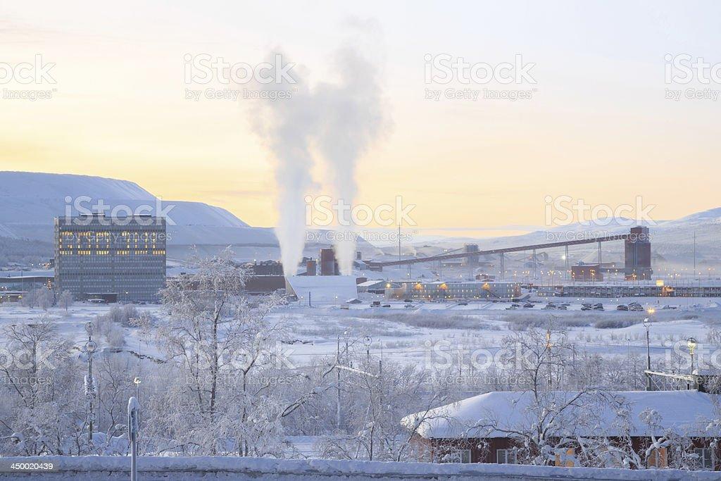 Iron ore Refinery Factory stock photo