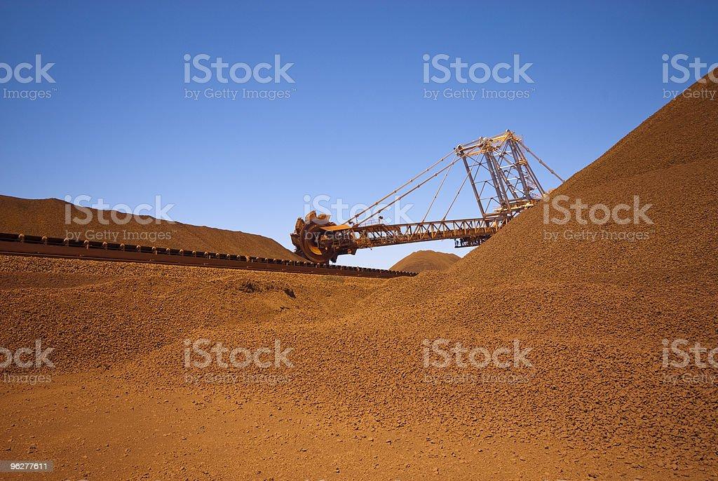 iron ore site reclaimer stock photo