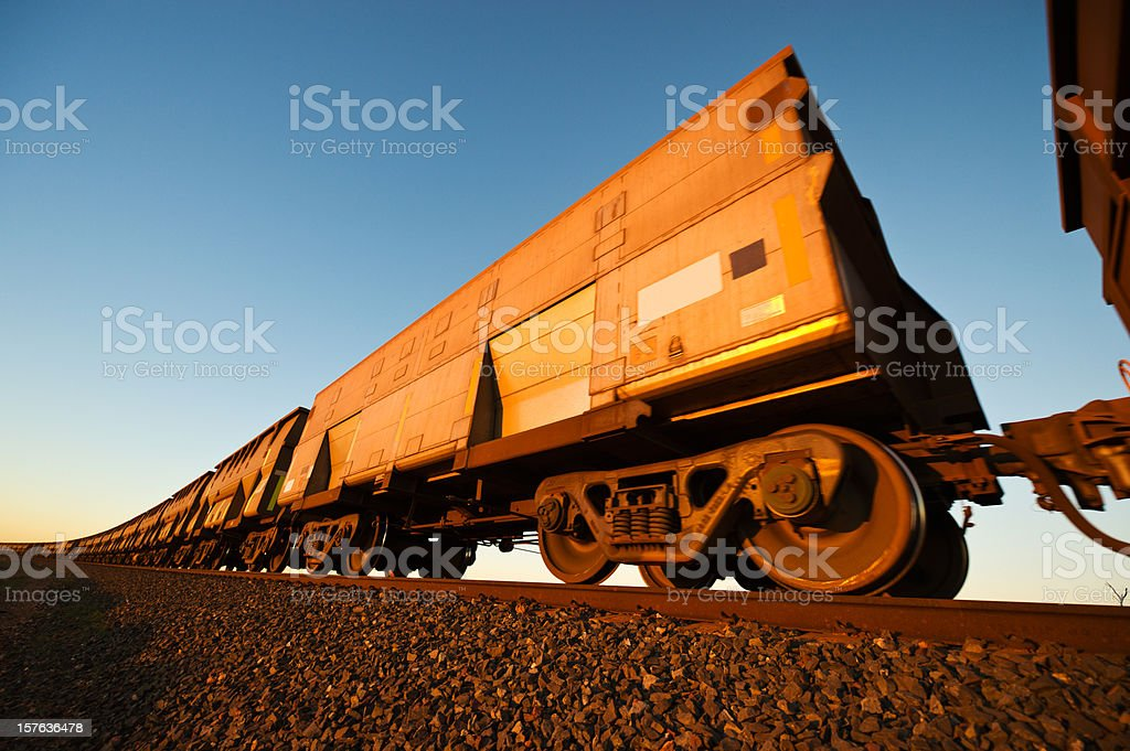 Iron Ore Train Cars close up royalty-free stock photo