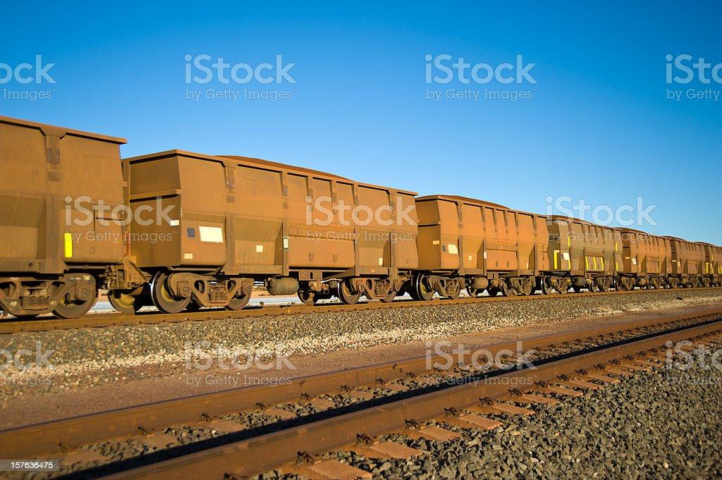 Iron Ore Train Cars stock photo