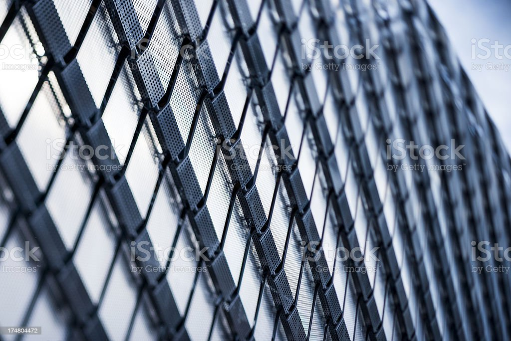 Iron pattern on a large building royalty-free stock photo