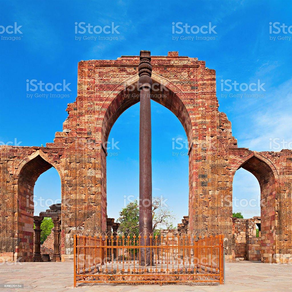 Iron Pillar, India stock photo
