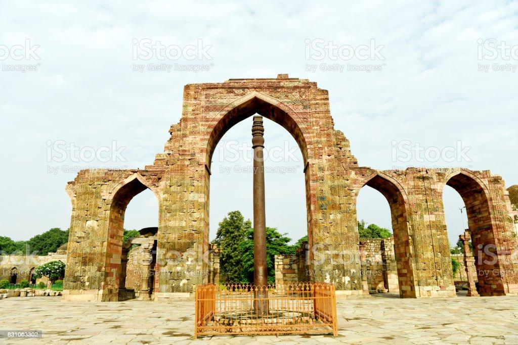 Iron Pillar of Delhi stock photo