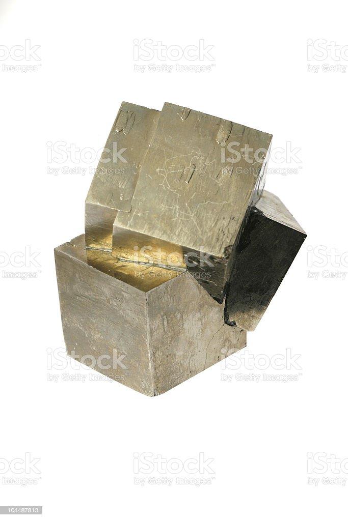 iron pyrite crystals stock photo