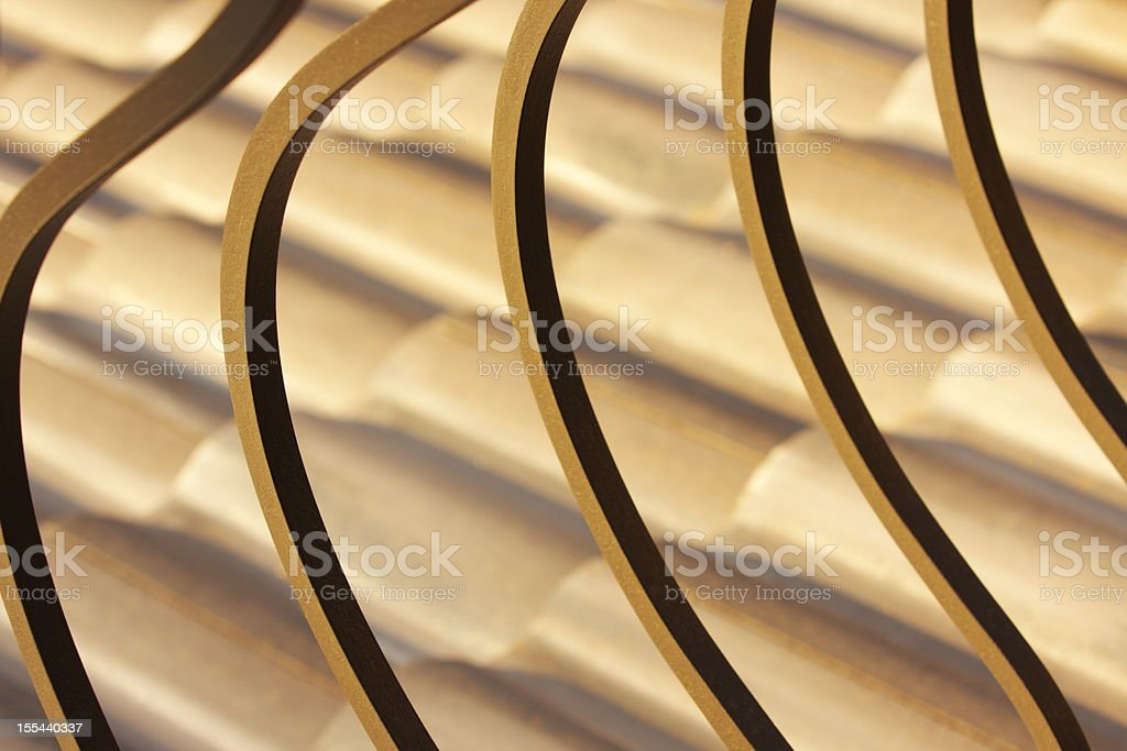 Iron Railing Tile Roof Abstract royalty-free stock photo
