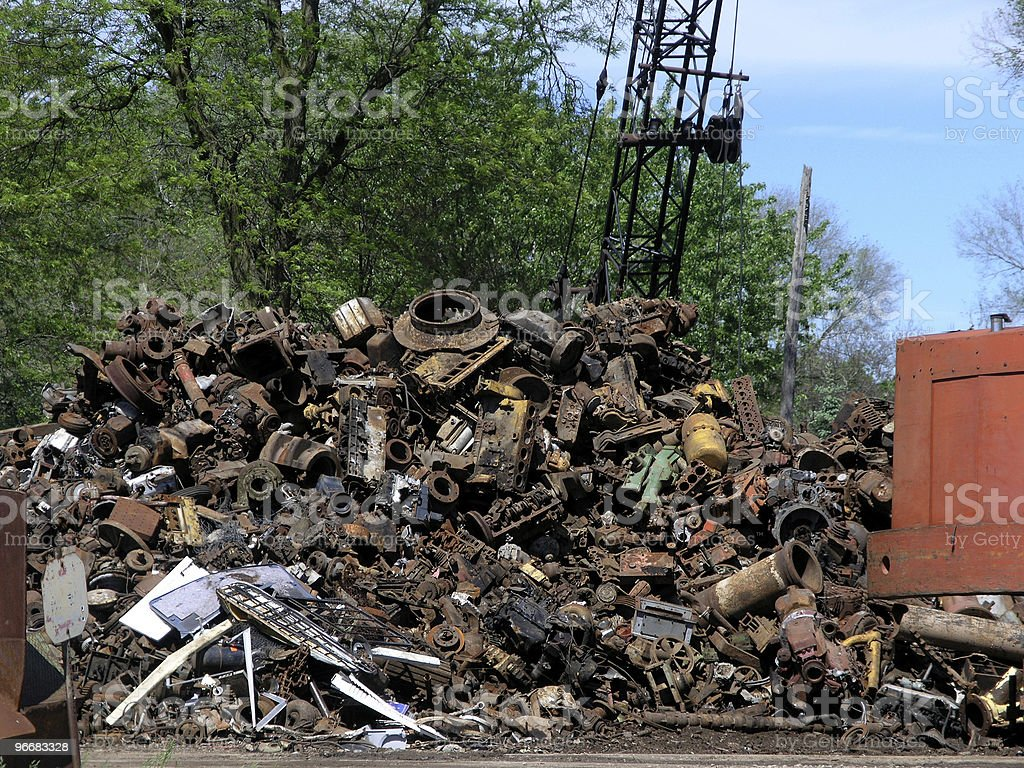 Iron Recycling stock photo