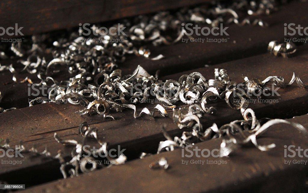 Iron remains stock photo