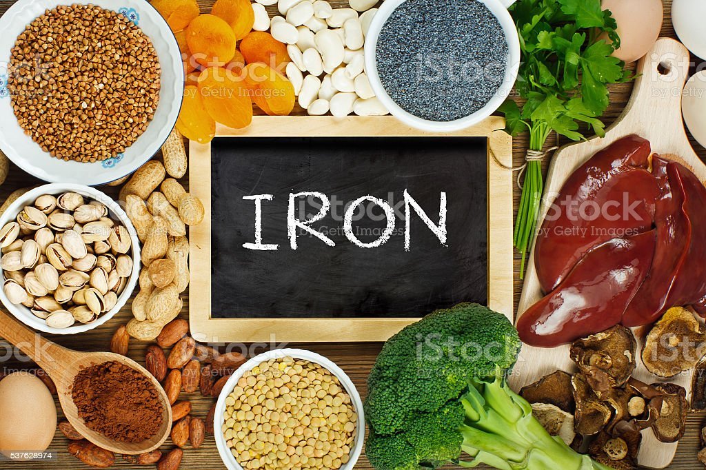 Iron rich foods stock photo