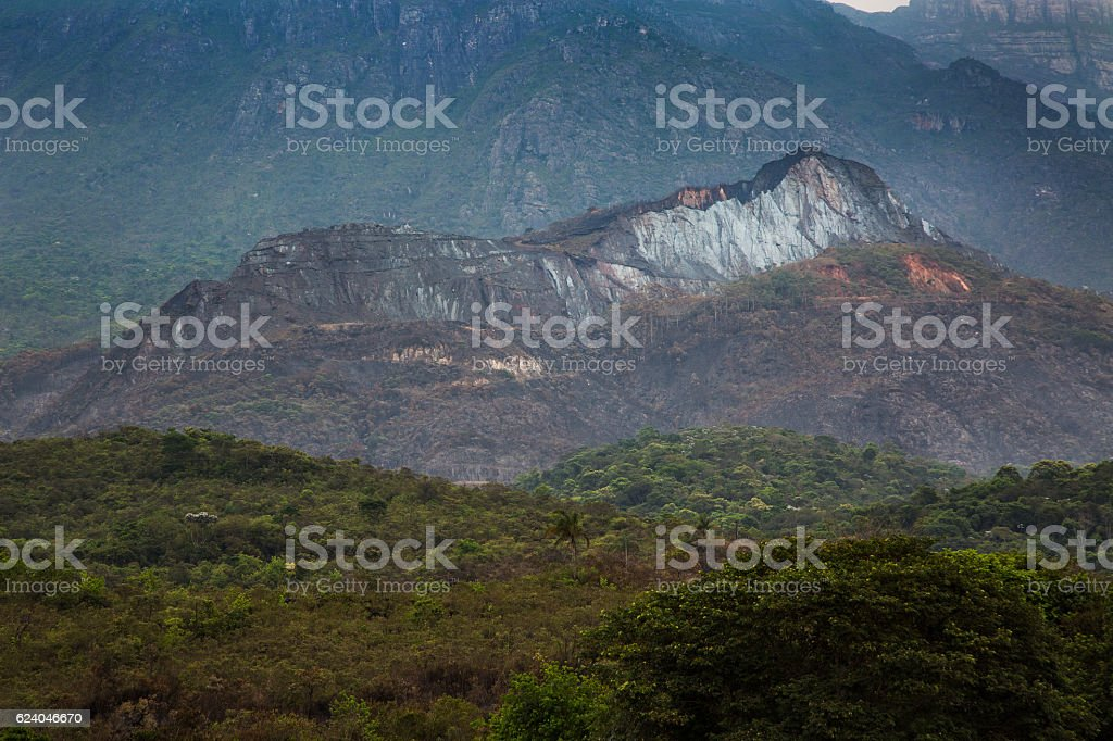 Iron rock, Iron floor in Minas Gerais, Brazil stock photo