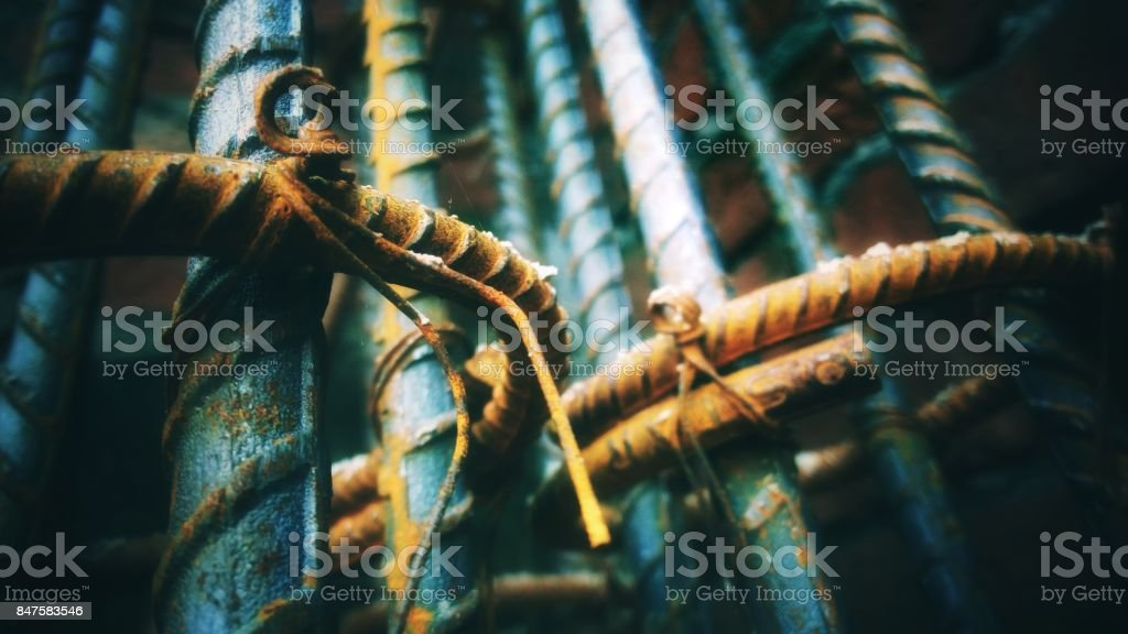 Iron rod stock photo