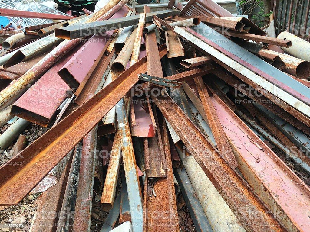 Iron Scrap. stock photo