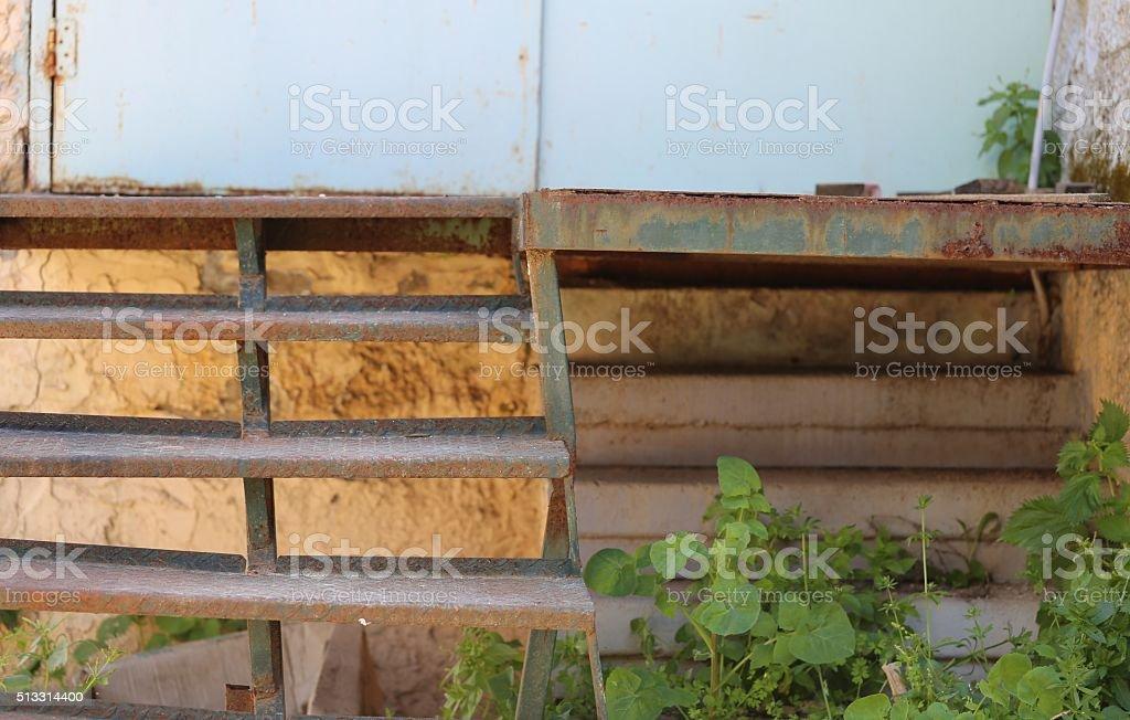 Iron Staircase. stock photo