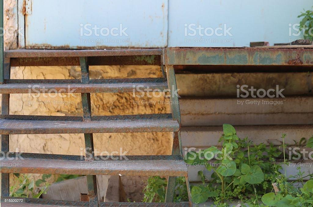 Iron Staircase stock photo