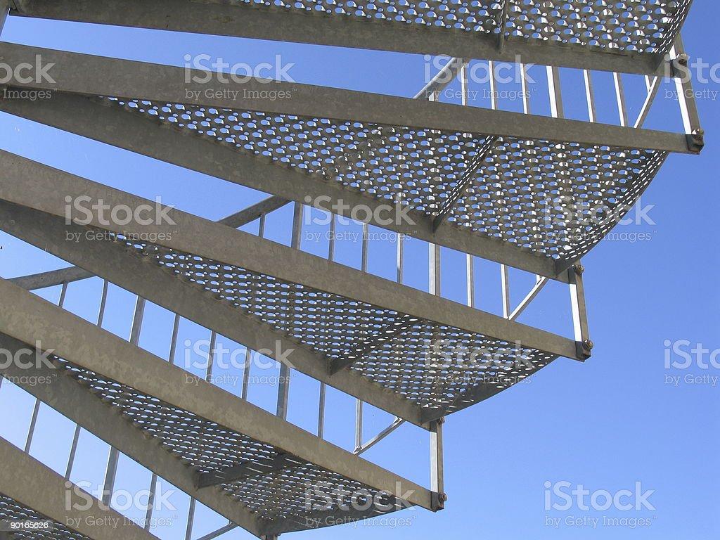 Iron staircase royalty-free stock photo