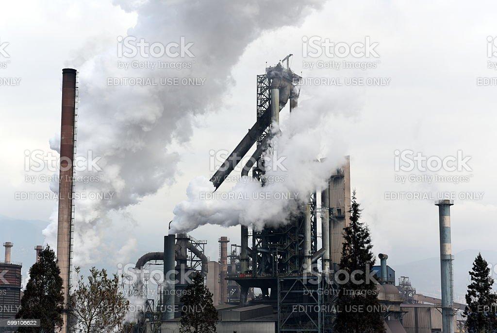 KARDEMIR - Iron steel factory stock photo