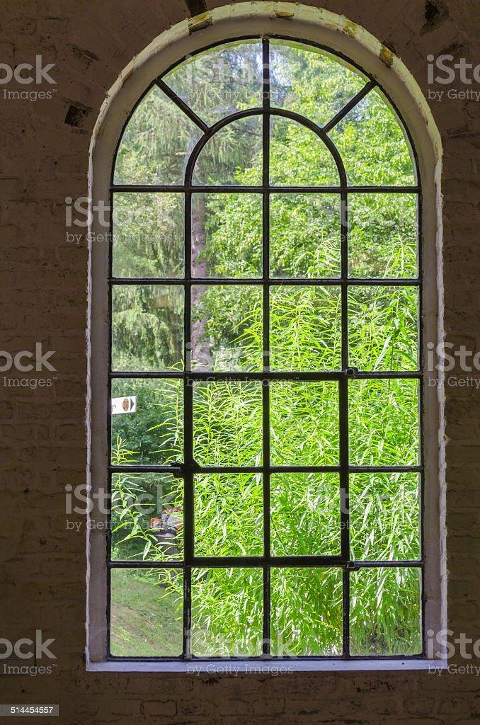 Iron, steel, sprout, plant window stock photo