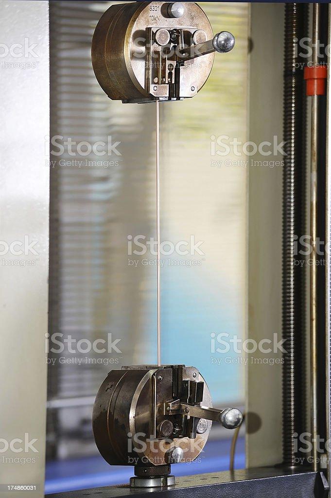 Iron testing in laboratory royalty-free stock photo