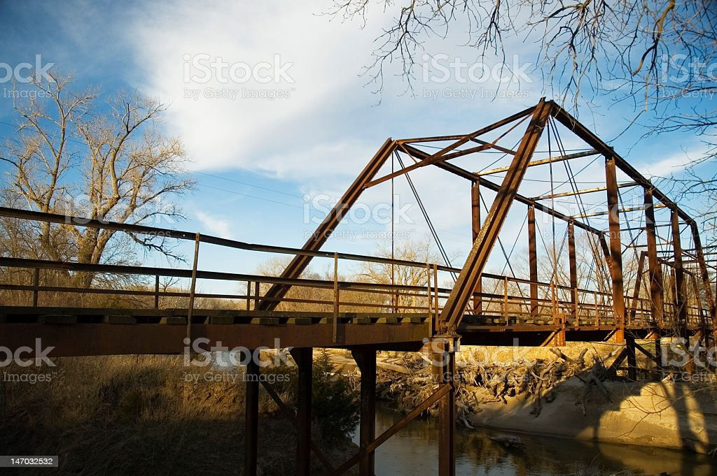 Iron Truss Bridge royalty-free stock photo
