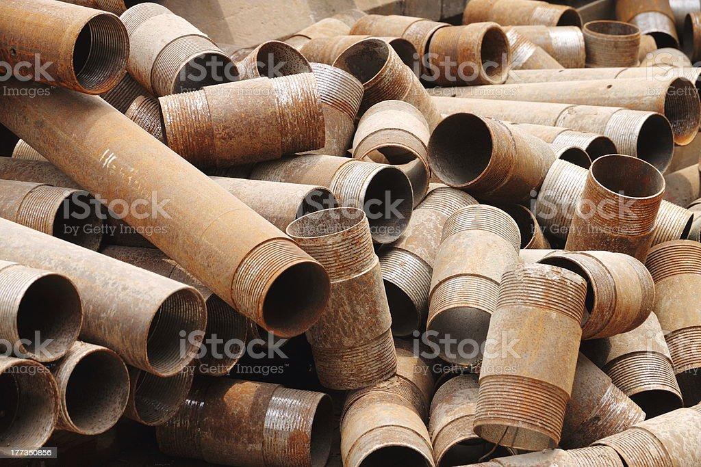 Iron tube royalty-free stock photo