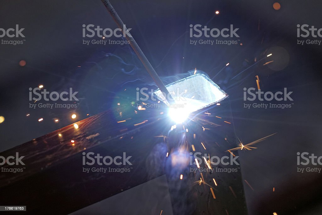 Iron Welding, Bright Light royalty-free stock photo