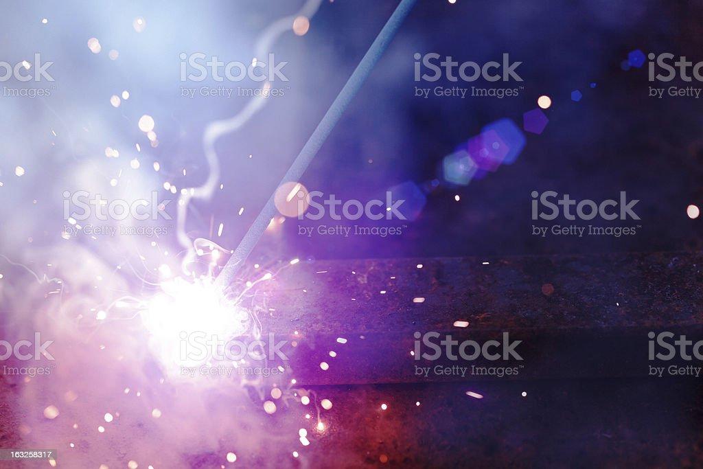 Iron Welding stock photo