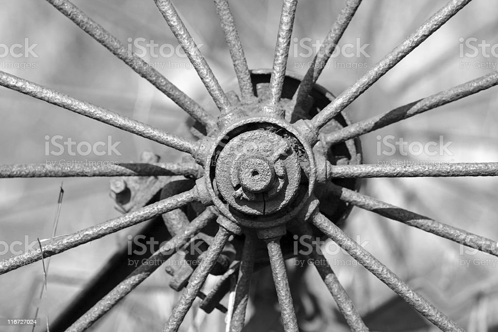 Iron wheel royalty-free stock photo