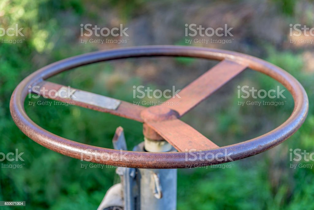 Iron Wheel stock photo