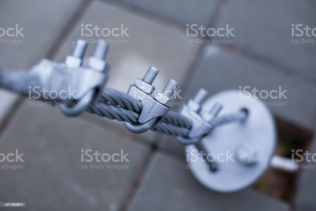 Iron wire close up stock photo