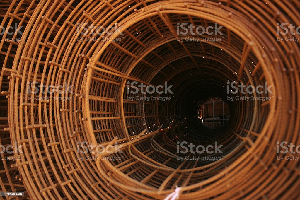 iron wire coils stock photo