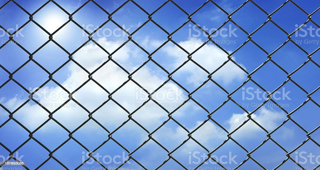 Iron wire fence royalty-free stock photo