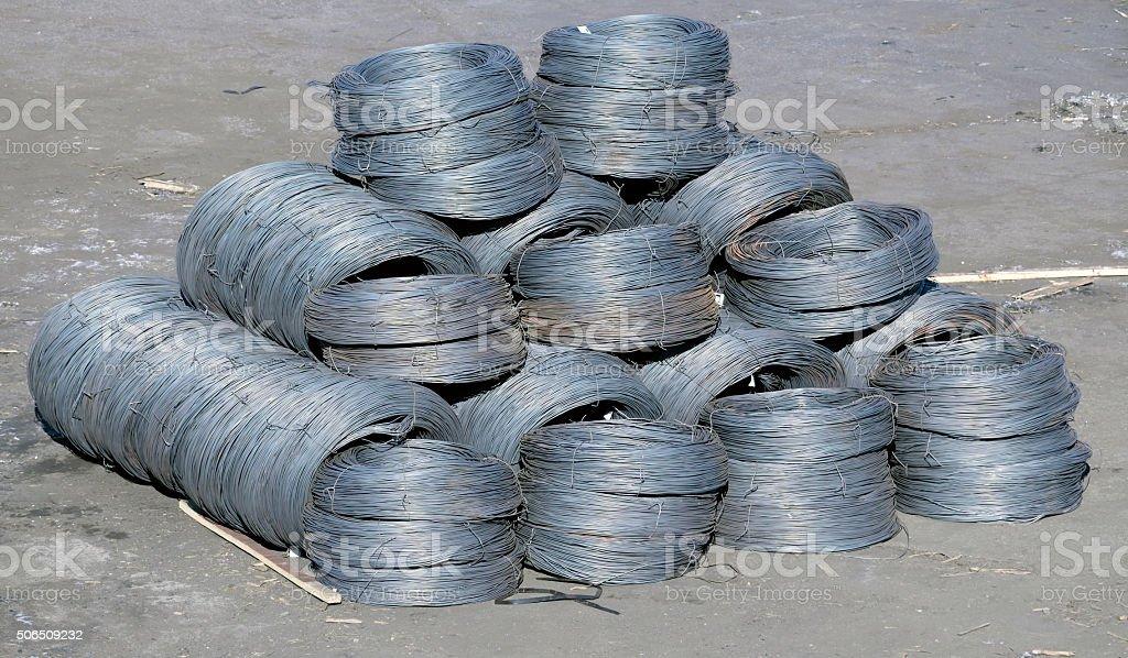 iron wires under stock photo