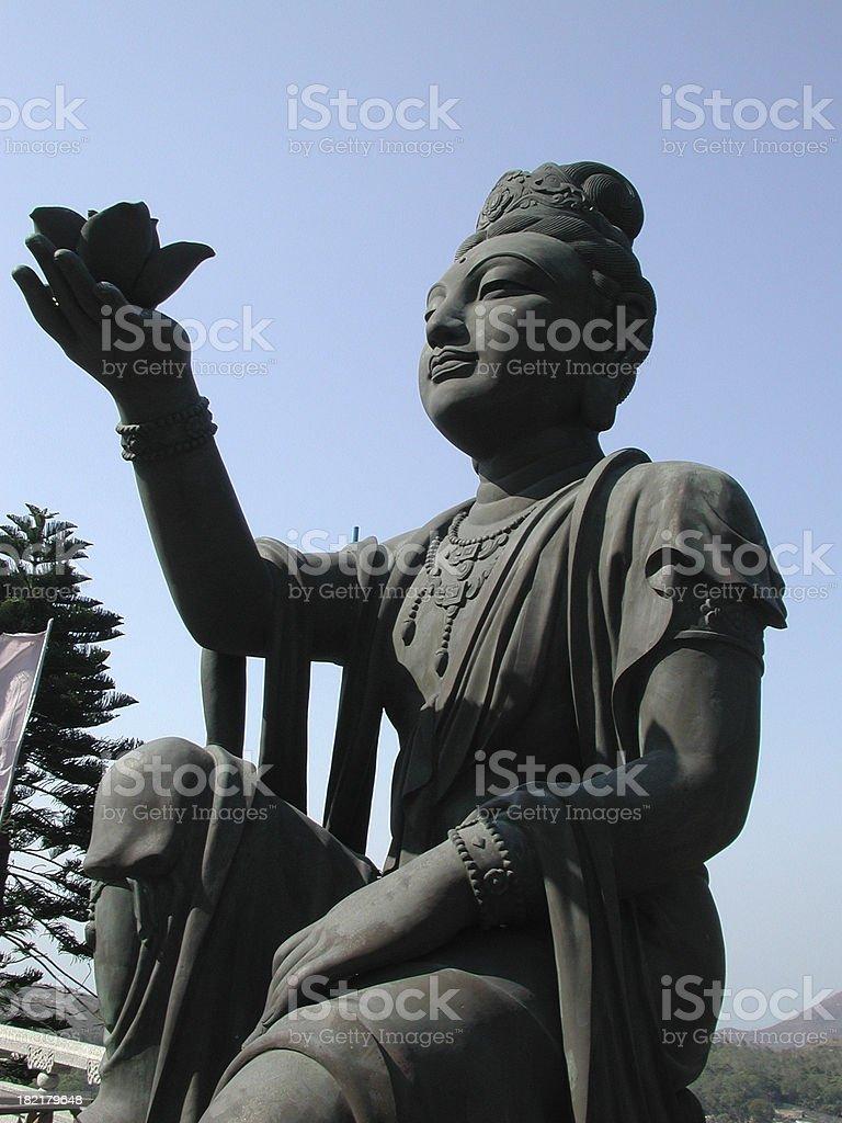 Iron woman statue royalty-free stock photo