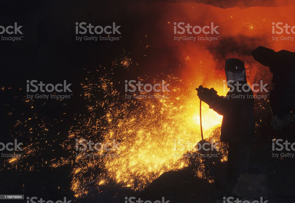 Iron worker stock photo