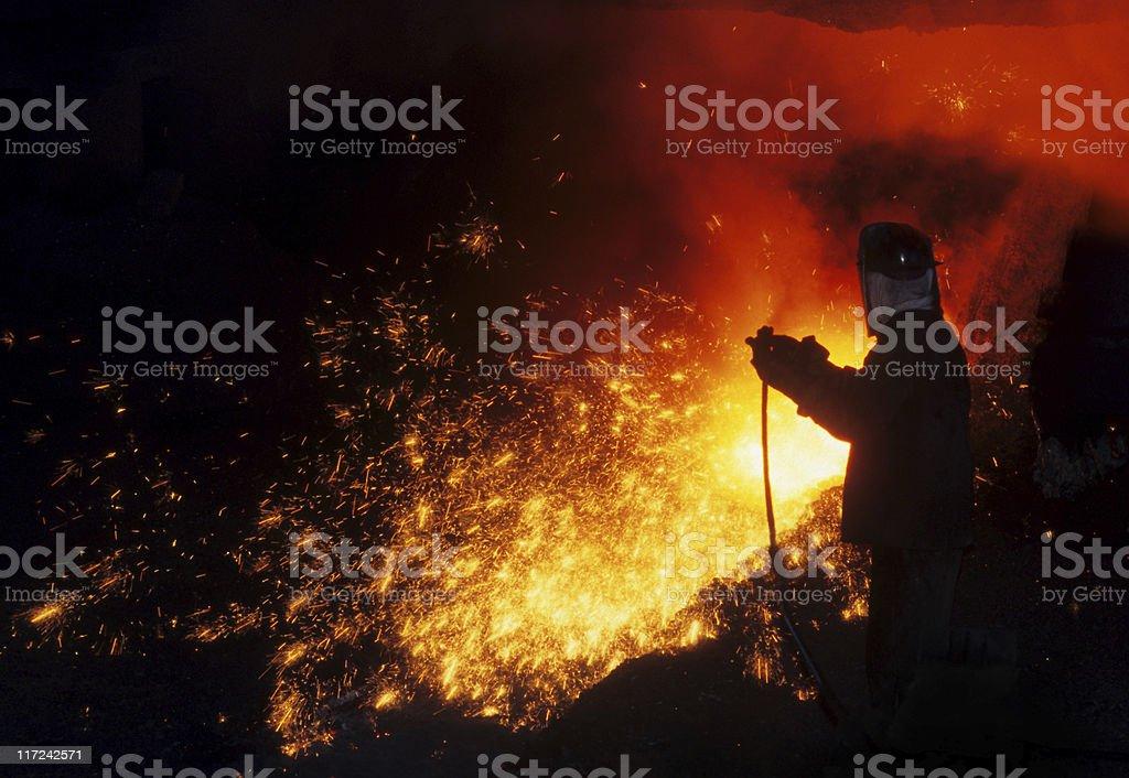 Iron worker royalty-free stock photo
