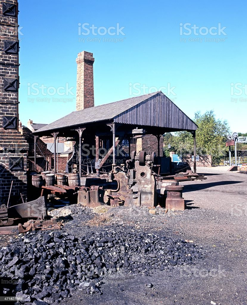 Iron works and coal heap, Dudley, england. royalty-free stock photo