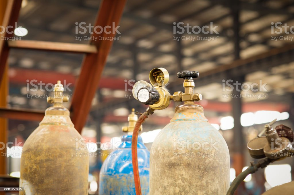 Iron workshop in shipyard. stock photo