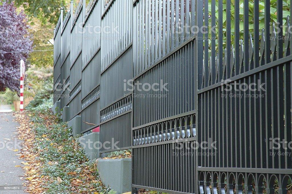 Iron Wrought Fence stock photo