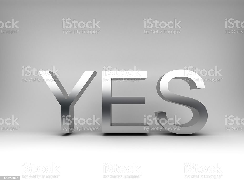 iron yes concept royalty-free stock photo
