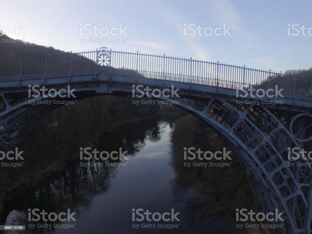 Ironbridge Aerial View stock photo