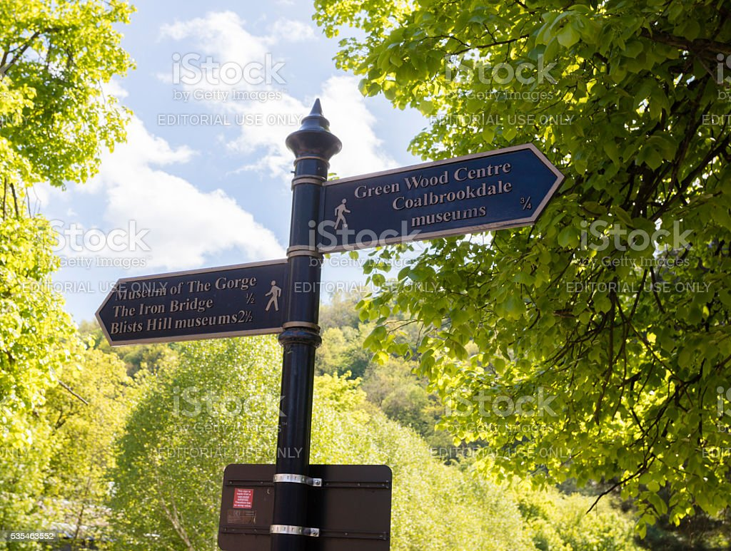 Ironbridge Direction Signs stock photo