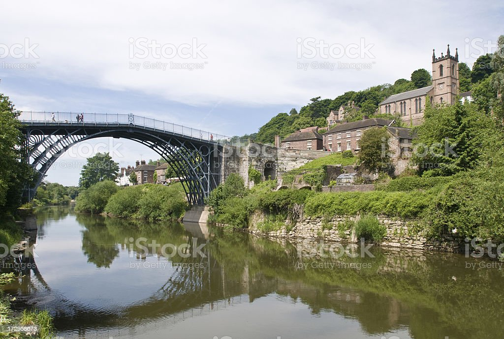 Ironbridge in Telford stock photo