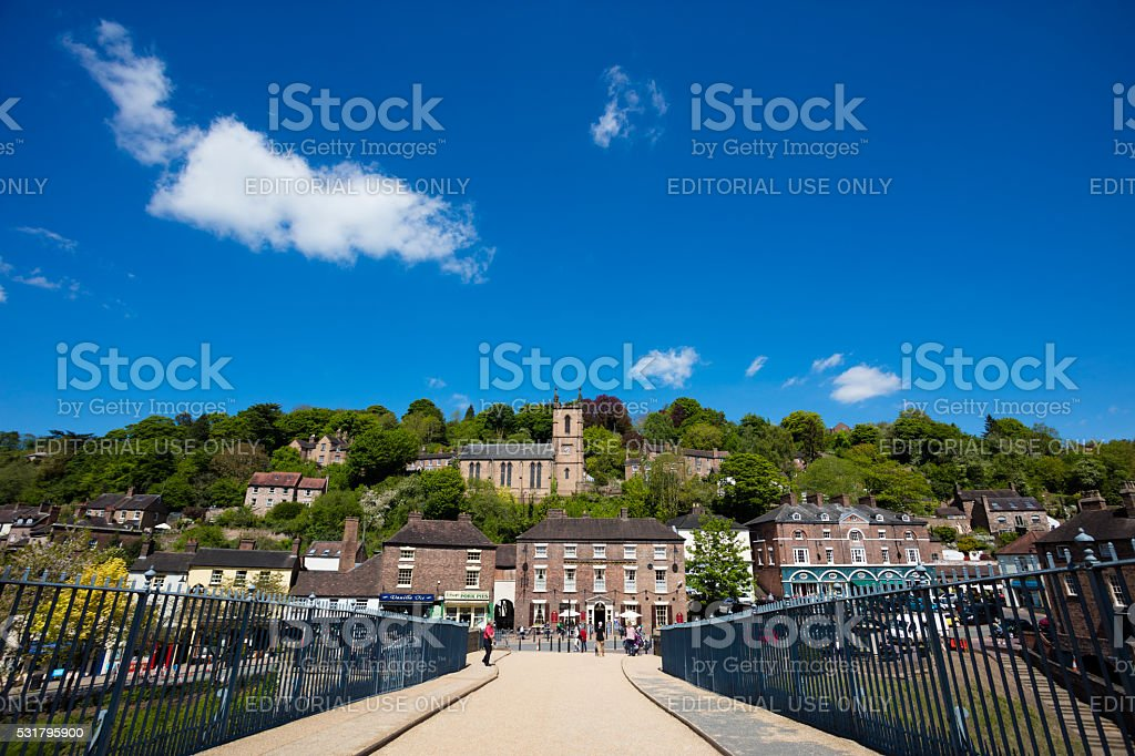 Ironbridge Telford stock photo