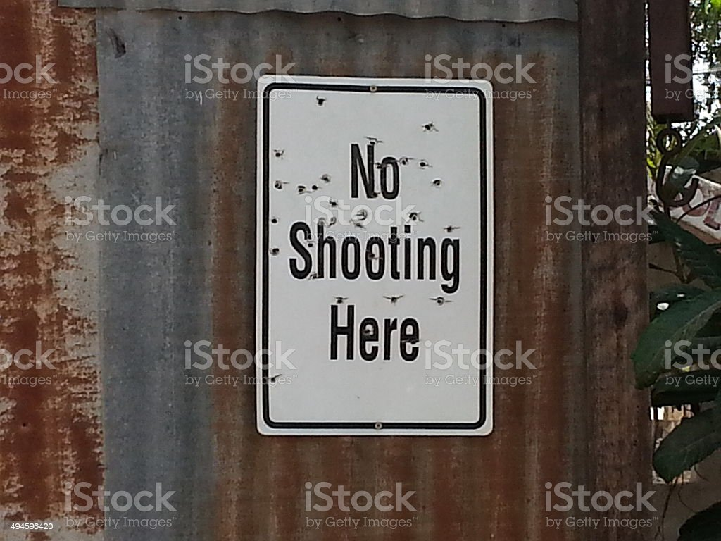Ironic sign stock photo
