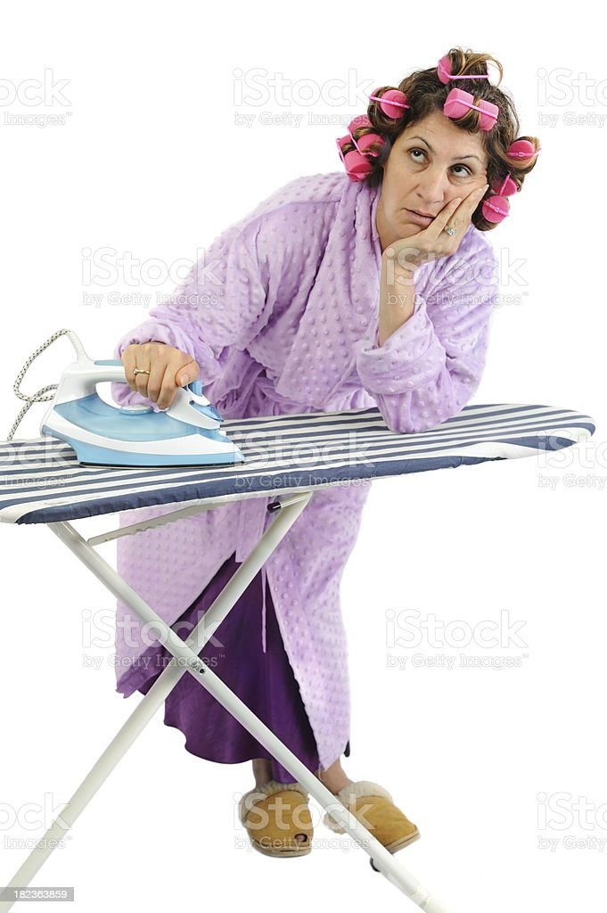 Ironing Blues royalty-free stock photo