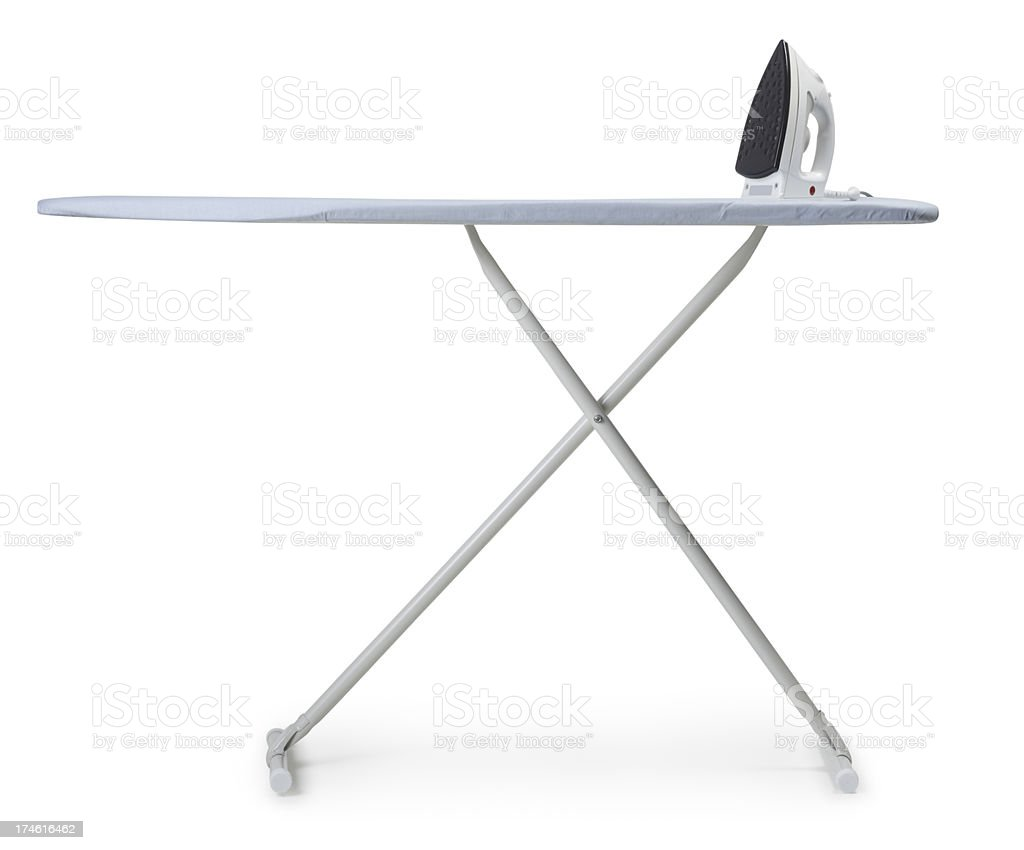 Ironing Board and Iron stock photo