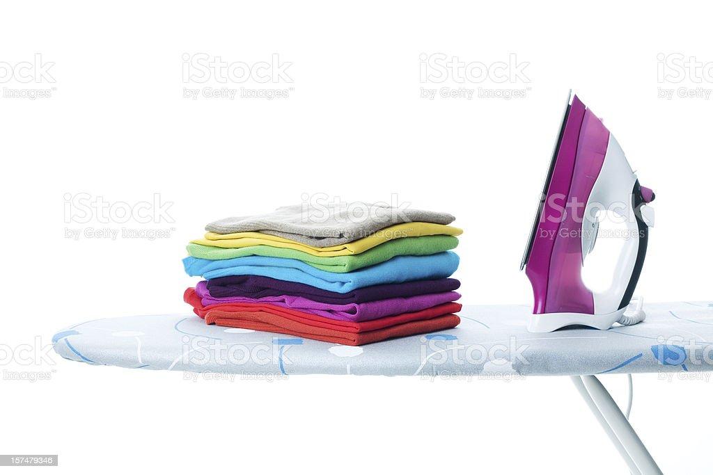 Ironing Chore stock photo