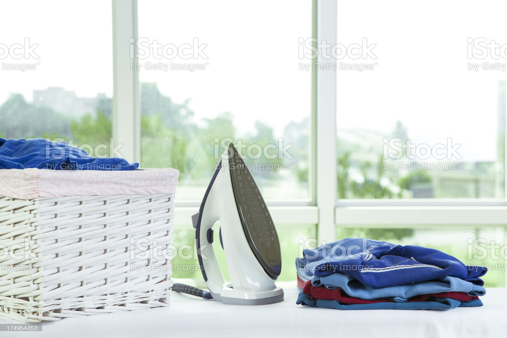 Ironing Chore royalty-free stock photo