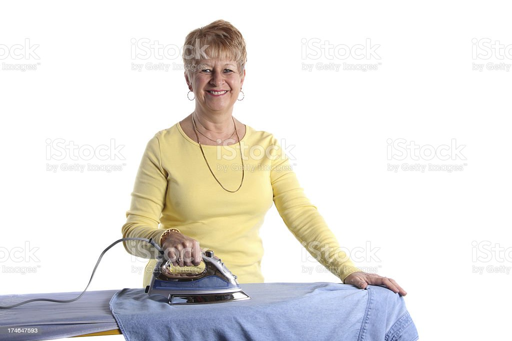 Ironing Clothes royalty-free stock photo