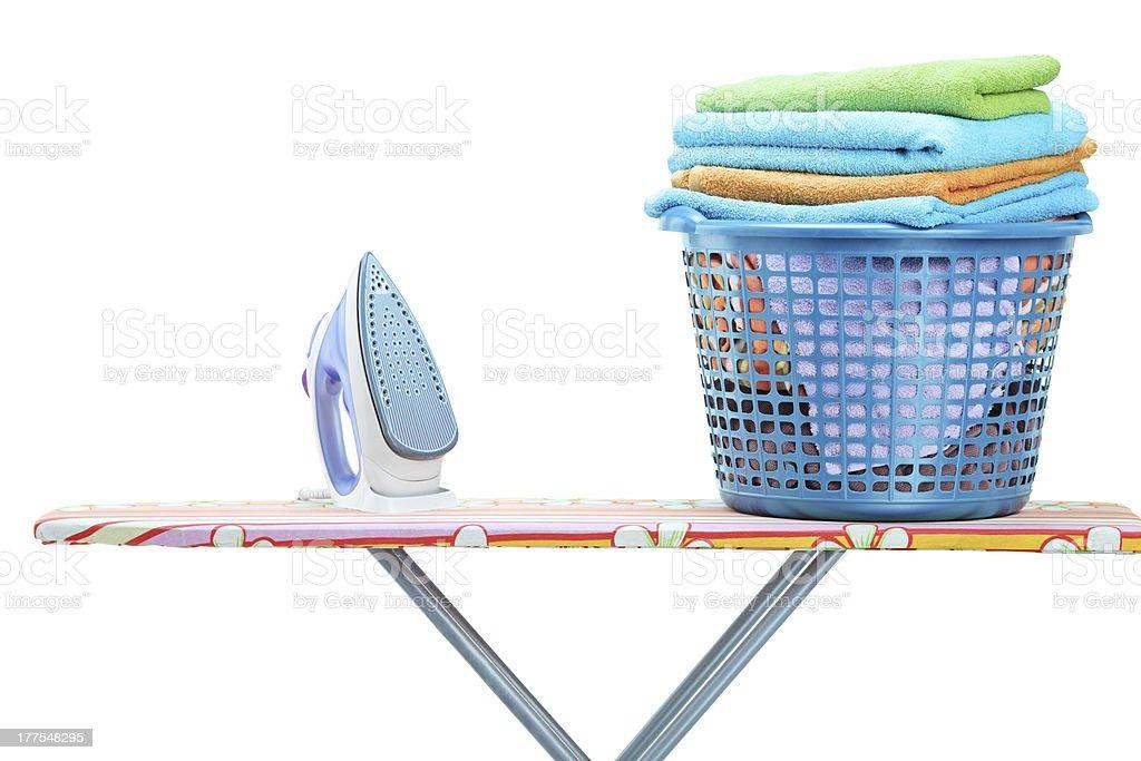 Ironing concept stock photo