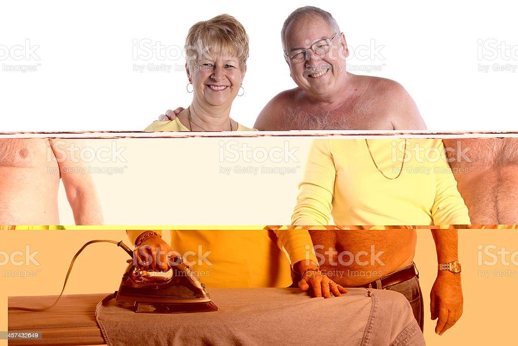 Ironing His Shirt royalty-free stock photo